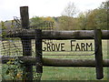 TM3471 : Grove Farm sign by Adrian Cable