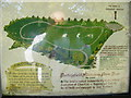 TM3473 : Huntingfield Millennium Green Map by Adrian Cable