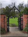 SD9304 : Alexandra Park; Pavilion Gate and Bowling Green by David Dixon