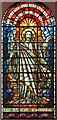 TQ6292 : St Nicholas, Ingrave - Stained glass window by John Salmon
