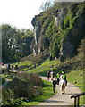 SK5374 : A fine Saturday afternoon at Creswell Crags by Andrew Hill