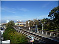 TQ2976 : View from the footbridge at Wandsworth Road station by Ian Yarham