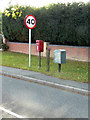 SK6430 : Browns Lane, Keyworth, postbox ref NG12 273 by Alan Murray-Rust