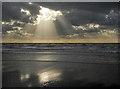 SH6012 : Fairbourne beach near low tide : Week 42