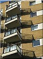TQ2575 : Balconies, Riverside West by Derek Harper