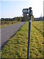 TM3355 : Bridleway sign on Ivy Lodge Road by Adrian Cable