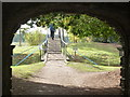 SO8844 : Croome Landscape Park - from under the dry arch bridge. by Chris Allen