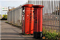 J3171 : Pillar box and metered-mail box, Belfast by Albert Bridge