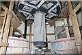 SK3650 : Heage Windmill - stone floor by Chris Allen