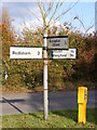 TM4282 : Roadsign on Station Road by Adrian Cable