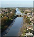 TF3244 : View from St Botolph's - upstream on the Witham by Rob Farrow
