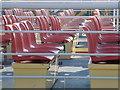 SZ0090 : Poole: seats on empty boats : Week 45