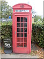 TQ3373 : Red Telephone Box by Dulwich Picture Gallery by David Hillas