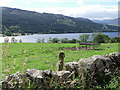 NN8359 : Dry stone wall above Loch Tummel by nick macneill