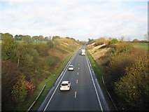 SJ6670 : The A533 looking North by Dr Duncan Pepper