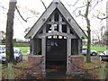 SJ6769 : Rather attractive shelter on Bostock Green by Dr Duncan Pepper