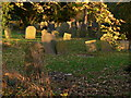 SP6597 : Gravestones at St. Cuthbert's Church, Great Glen by Mat Fascione
