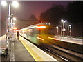 TQ3470 : Crystal Palace station, foggy evening by Christopher Hilton