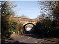 TQ3262 : Railway bridge over Riddlesdown Road by David Anstiss