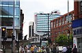 SJ8498 : Portland Street in Manchester by Steve Daniels