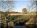 SJ6762 : Footbridge over the River Weaver by Dr Duncan Pepper