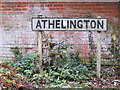 TM2170 : Athelington sign by Adrian Cable