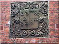 TA0290 : Crest on Scalby Manor's former gatehouse by Pauline Eccles