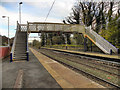 SJ9993 : Broadbottom Rail Station Footbridge by David Dixon