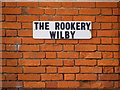 TM2271 : The Rookery, Wilby sign by Adrian Cable