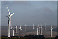 NT4757 : Turbines at Dun Law Wind Farm by Walter Baxter