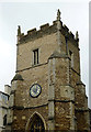 TL4458 : Saint Botolph's Church Tower (detail), Cambridge by Roger  Kidd
