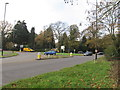 TQ2940 : Roundabout at the junction of Balcombe Road with Antlands Lane by Richard Rogerson