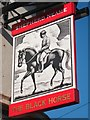 TQ5840 : Black Horse sign by Oast House Archive