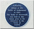 Photo of James Scott blue plaque