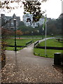 SZ0891 : Bournemouth: path across the Lower Gardens from Gervis Place by Chris Downer