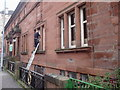 NS5862 : Govanhill Baths � Fitting Windows (1) by Alan Murray Walsh