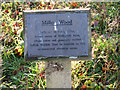 TM2751 : Plaque to Robin Miller, Miller Wood, Melton by Evelyn Simak