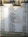 TL1829 : Hitchin War Memorial - Great War Panel - L to P by John Lucas