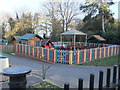 TQ2292 : Playground, St Paul's Primary School, The Ridgeway NW7 by Robin Sones