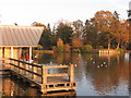 TQ6039 : Boathouse at Dunorlan Lake by Oast House Archive