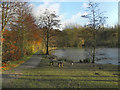SD7406 : Moses Gate Country Park, Fishing Lodge by David Dixon