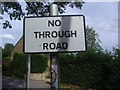 TQ1598 : Modern interpretation of pre-Worboys no through road sign by David Howard
