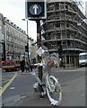 TQ3082 : Ghost bike near London Kings Cross station by Steve  Fareham