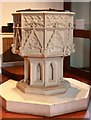 TQ2678 : St Mary, The Boltons, Brompton West - Font by John Salmon