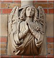 TQ4671 : St John the Evangelist, Church Road, Sidcup - Corbel by John Salmon