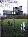 TM2276 : Roadsign on Church Road by Adrian Cable