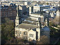 NT2473 : West End churches from Edinburgh Castle by kim traynor