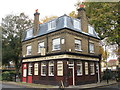 TQ3480 : The Turk's Head Café, Tench Street / Green Bank, E1 by Mike Quinn