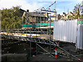 SD9927 : Scaffolding on the Old Bridge, Hebden Bridge by Phil Champion