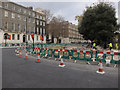 TQ3081 : Russel Square roadworks by Hugh Venables